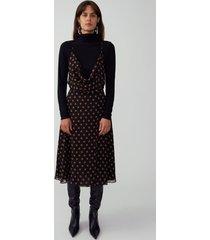 bardot dot butterscotch strappy petti dress