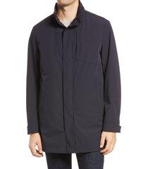 men's corneliani men's travel water resistant car coat, size 48 us - blue