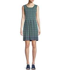 geometric-print mini dress
