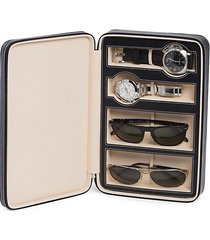watch & sunglass leather travel case