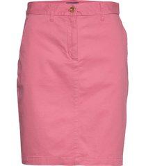 d1. classic chino skirt rok knielengte roze gant