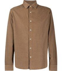altea corduroy buttoned shirt - brown