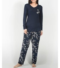 mood pajamas cherry blossom ultra soft long-sleeve pajama set