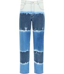alberta ferretti i love summer tie-dye trousers