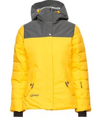 kilta w dx warm ski jacket fodrad jacka gul halti