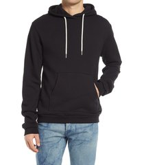 john elliott beach relaxed fit hoodie, size x-small in black at nordstrom