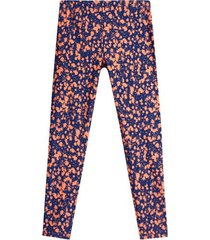leggings deportivo manchas naranjas color rosado, talla xs