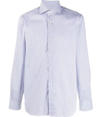 barba striped formal shirt - white