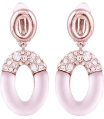 t tahari frosted lucite drop clip earring