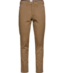 slhslim-miles flex chino pants w noos chinos byxor brun selected homme