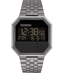 nixon rerun digital bracelet watch, 39mm in gunmetal at nordstrom