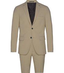 plain mens suit kostym beige lindbergh
