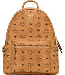 mcm stark 32 visetos canvas backpack in cognac at nordstrom