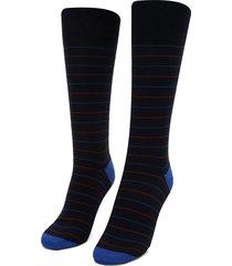medias  azul oscuro-rojo colore
