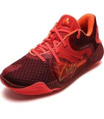 tenis basketball rojo-coral-naranja under armour spawn 2