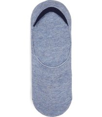 mens blue marl no show socks with gel pads