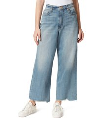 frayed high-rise wide-leg jeans