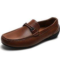 zapato casual mocasin marrón pierre cardin pc0754-b