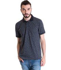 camisa polo masculina manga curta 33601 gola grafite