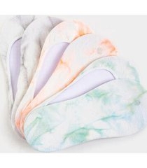 kristain tie dye liner socks - mint
