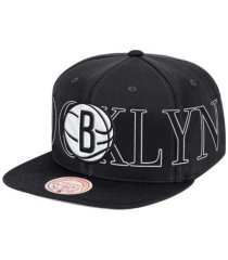 mitchell & ness brooklyn nets winners circle snapback cap