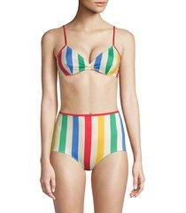 the brigitte striped bikini top