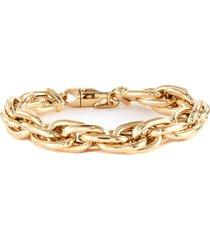 lucky link small oval 14k gold chain bracelet