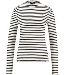 catwalk junkie lang shirt striped black white 1902040604 100 black - zwart