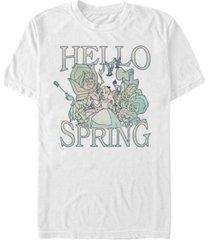 men's alice in wonderland spring garden alice short sleeve t-shirt