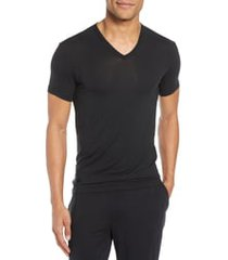calvin klein ultrasoft stretch modal v-neck t-shirt, size x-large in black at nordstrom