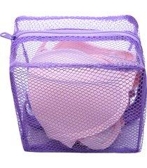 rete solida della chiusura lampo dei vestiti di lavaggio della borsa della lavanderia per i reggiseni e la biancheria
