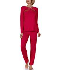 pyjama's / nachthemden lisca homewear pyjamabroek en top evelyn rood