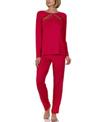 pyjama's / nachthemden lisca homewear pyjamabroek en top evelyn rood