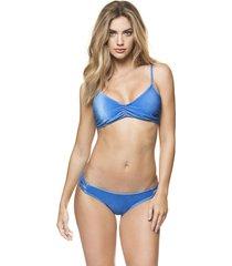 bikini velvetine femenino azul kibys