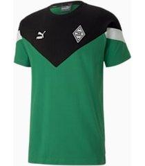 borussia mönchengladbach mcs t-shirt voor heren, groen, maat xs   puma
