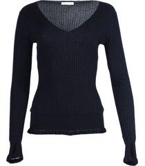 arthur long-sleeve cashmere-silk top