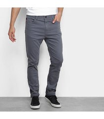 calça sarja slim ellus color masculina