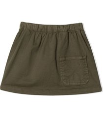 douuod khaki green cargo mini skirt