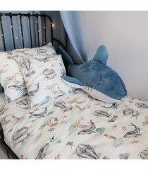pościel bawełna premium wieloryby
