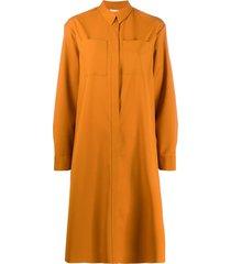maison rabih kayrouz chest pocket shirt dress - yellow