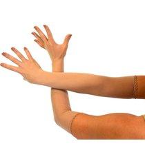 seamless sheer long gloves theater dancer costume pantyhose stockings nylon