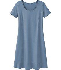 comfortabele jurk van bio-jersey, pacific blue 46