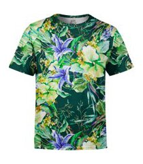 camiseta estampada over fame jardim campânula floral