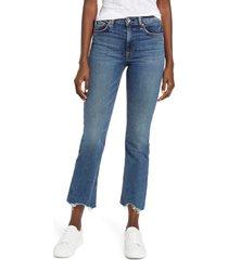 women's rag & bone nina high waist ankle flare jeans, size 23 - blue