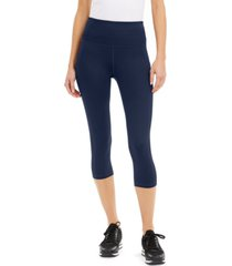 ideology high-rise side-pocket cropped leggings, created for macy's