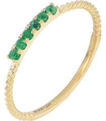 bony levy el mar twisted emerald stacking ring, size 7.5 in yellow gold at nordstrom