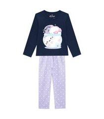 pijama primeiros passos abrange gato dentro da tigela azul marinho e lilás abrange casual azul marinho