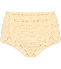 she made me essential crochet bikini bottoms - yellow