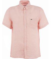 lacoste short sleeve linen shirt - nidius ch4991-ady
