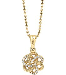 lagos 'love knot' diamond pendant necklace in gold at nordstrom